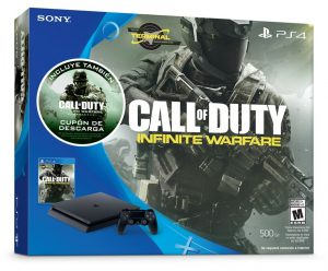 Playstation 4 500GB SLIM + 2 Jogos Call Of Duty Infinite Warfare e Modern Warfare