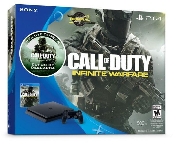 Playstation 4 500GB SLIM + 2 Jogos Call Of Duty Infinite Warfare e Modern Warfare